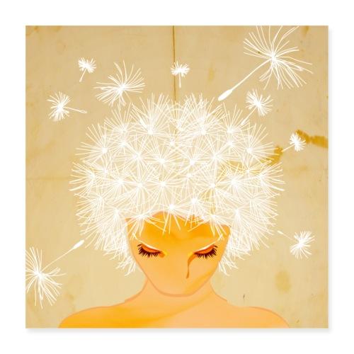 Pusteblume - Poster 40x40 cm
