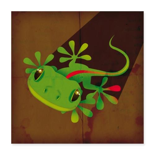 Gecko - Poster 40x40 cm