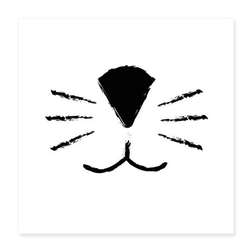 Katzen Schnute - Poster 40x40 cm