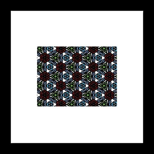 Symmetric roses - Poster 40x40 cm