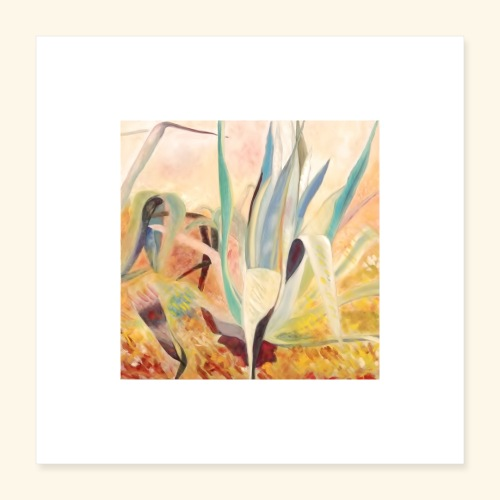 agaves jaunes - Poster 40 x 40 cm