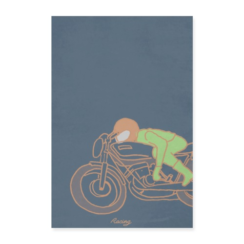 seventies racer orange - Poster 60 x 90 cm