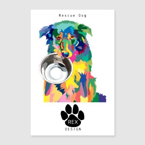 #AdoptDontShop - Poster 24 x 35 (60x90 cm)