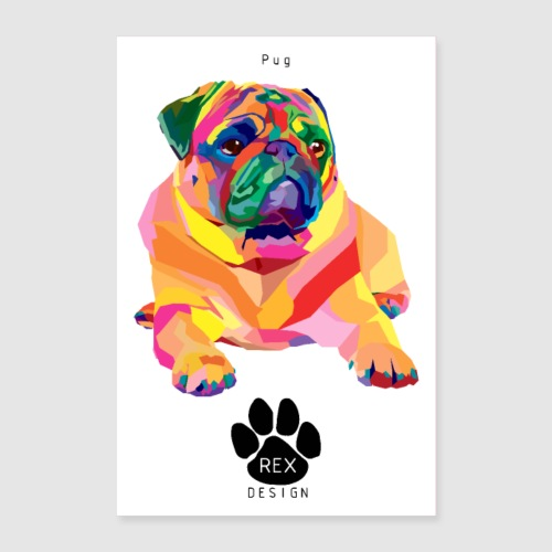 A Pug Life - Poster 24 x 35 (60x90 cm)