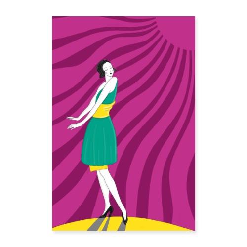 Tanzende Frau in der Sonne - Jugendstil Poster - Poster 60x90 cm