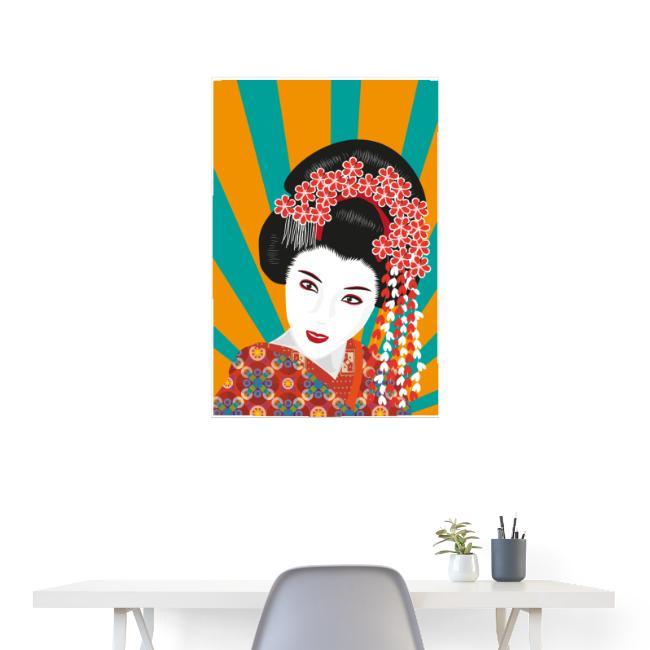 Geisha - Bunte Pop Art