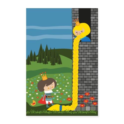 Rapunzel und der Prinz - Märchenposter - Poster 60x90 cm