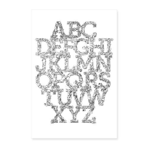 The FRTZN Alphabet Condensed - Poster 60x90 cm