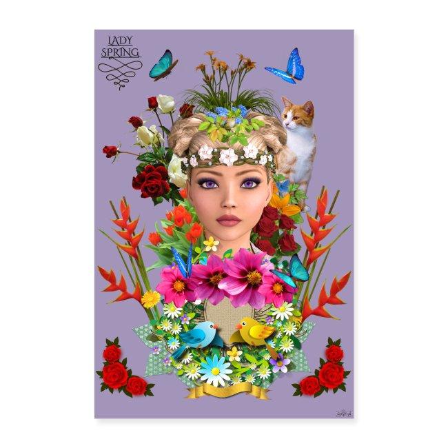 Poster - Lady spring - couleur orchidée