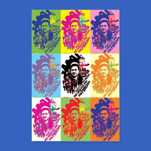 1. Mai DDR Plakat als PopArt - Poster 60x90 cm