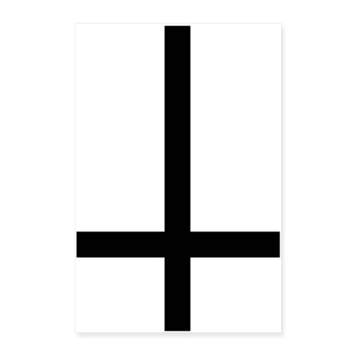 black inverted cross - Póster 60x90 cm