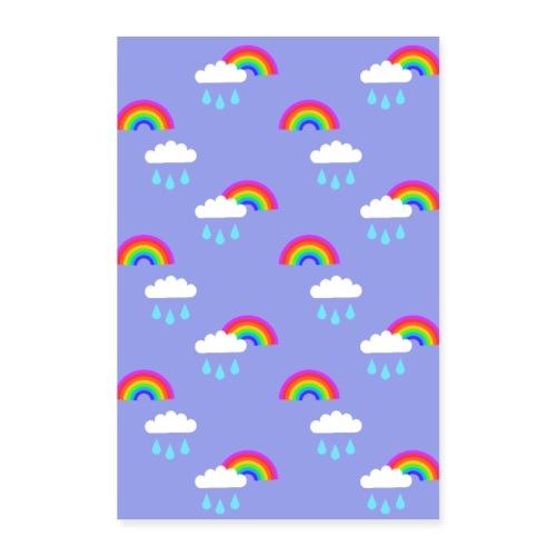 Sadepäivän ilo -juliste - Juliste 60x90 cm