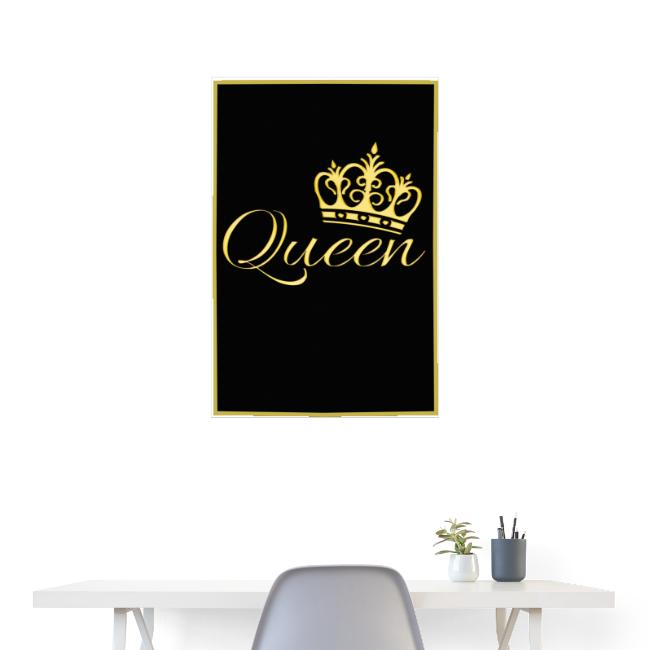 Poster - Queen couleur or