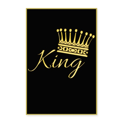 Poster - King couleur or - Poster 60 x 90 cm