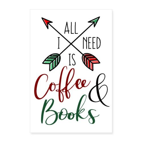 Coffee & books - Póster 60x90 cm