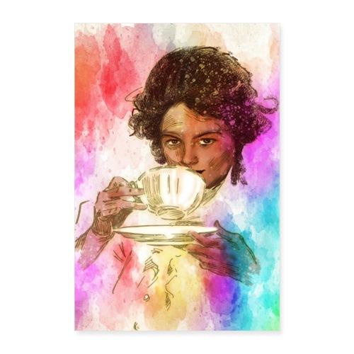 Caffee 21 Odpoczynek przy kawie - Plakat o wymiarach 60x90 cm