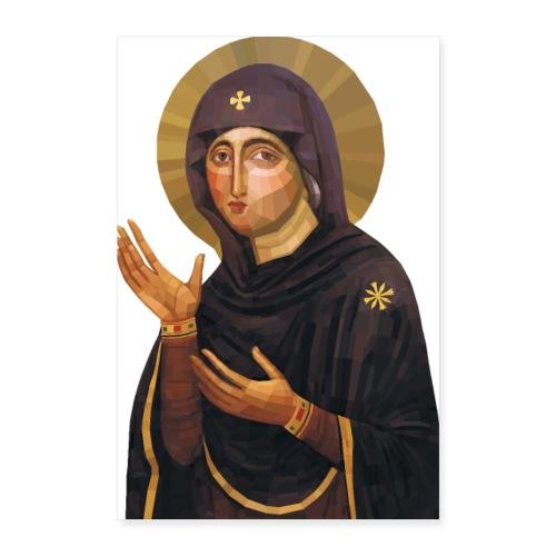 Virgin Mary Icon - Advocata Nostra - Poster 24 x 35 (60x90 cm)