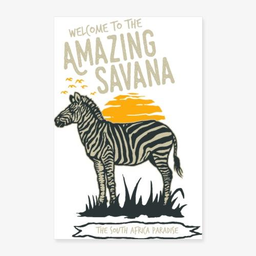 Zebra - Poster 60x90 cm