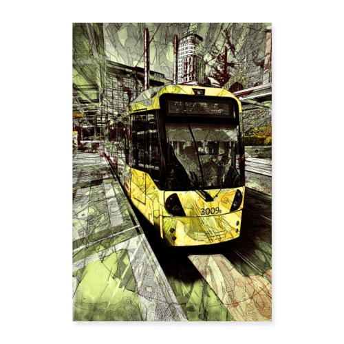 Tram at MediaCityUK - Poster 24 x 35 (60x90 cm)