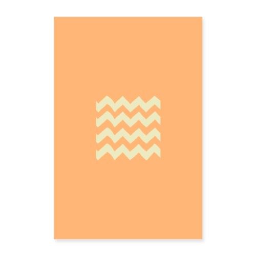 orange waves - Poster 60x90 cm