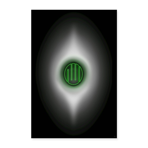 Allah-Kabe-HACERÜ`l esved Grün-Yesil - Poster 60x90 cm