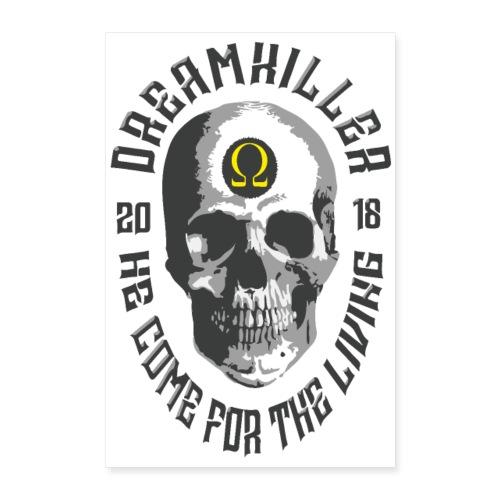 dreamkiller skull poster - Poster 60x90 cm
