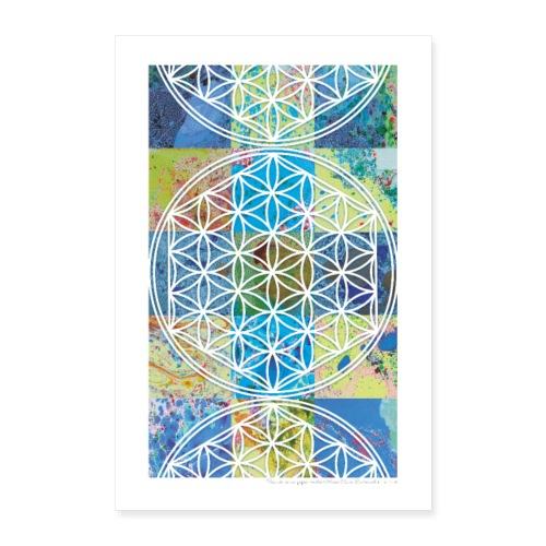 Poster Energetique Fleur de Vie - Poster 60 x 90 cm