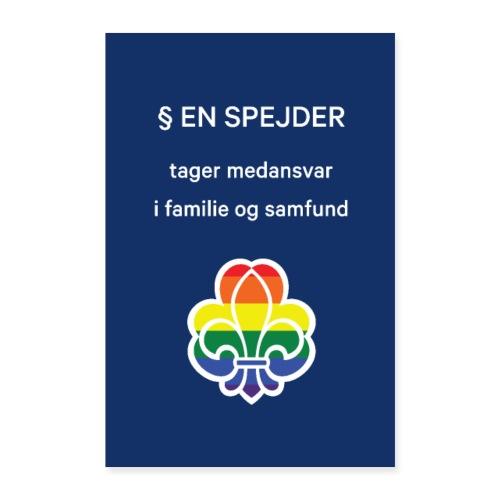 Regnbuespejderplakat nr5 - Poster 60x90 cm