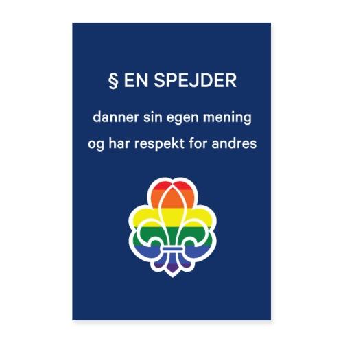 Regnbuespejderplakat nr2 - Poster 60x90 cm