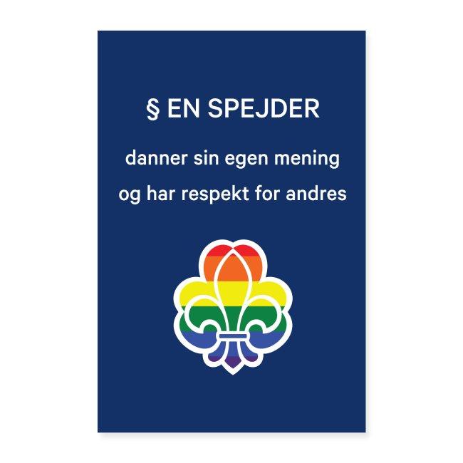 Regnbuespejderplakat nr2
