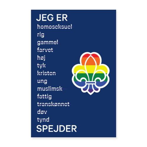 Regnbuespejderplakat nr1 - Poster 60x90 cm