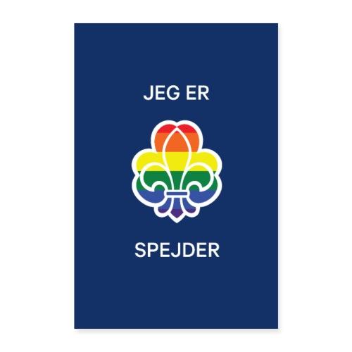 Regnbuespejderplakat nr6 - Poster 60x90 cm