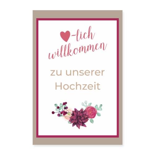 Plakat Herzlich willkommen Boho - Poster 60x90 cm