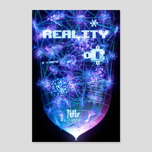 Reality: Typography Poster - Poster 24 x 35 (60x90 cm)