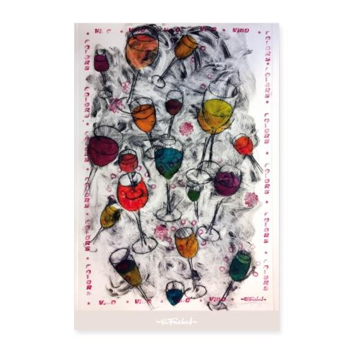 Wine series 1 - 60x90 cm by O.Fouchard - Poster 60 x 90 cm