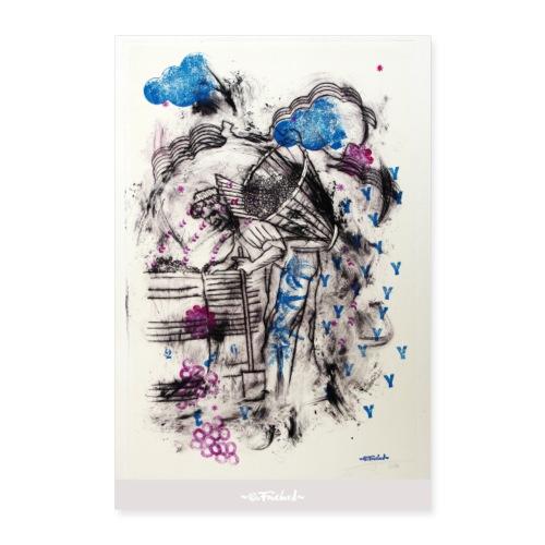 Wine series 3 60x90 cm O. Fouchard - Poster 60 x 90 cm