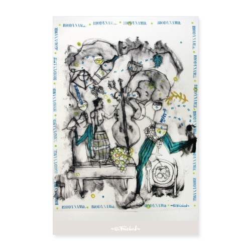 Wine series 6 - 60x90 cm O Fouchard - Poster 60 x 90 cm