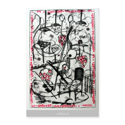 Wine series 7 60x90 cm O.Fouchard - Poster 60 x 90 cm
