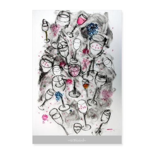 Wine series 9 - 60x90 cm O.Fouchard - Poster 60 x 90 cm