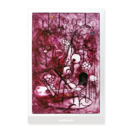 Wine series 10 60x90 cm O Fouchard - Poster 60 x 90 cm