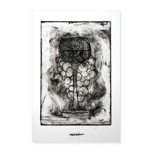 Wine series 11 60x90 cm O Fouchard - Poster 60 x 90 cm