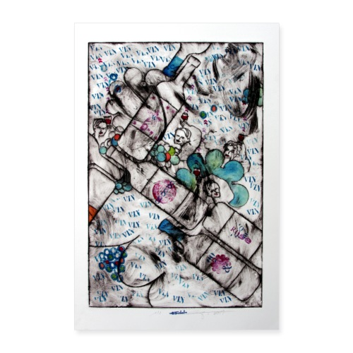 Wine series 12 60x90 cm O Fouchard - Poster 60 x 90 cm