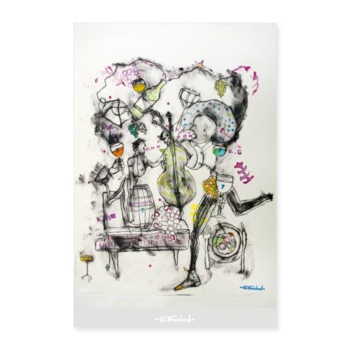Wine series 13 60x90 cm O Fouchard - Poster 60 x 90 cm