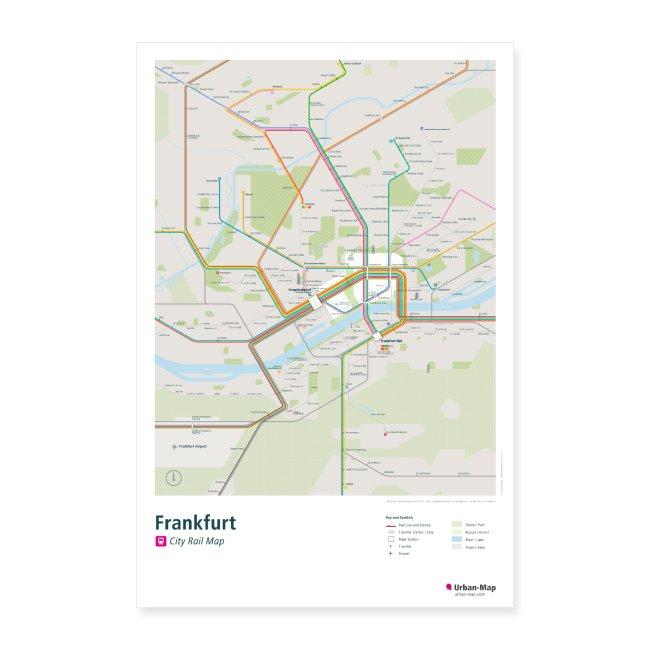 Frankfurt Rail Map