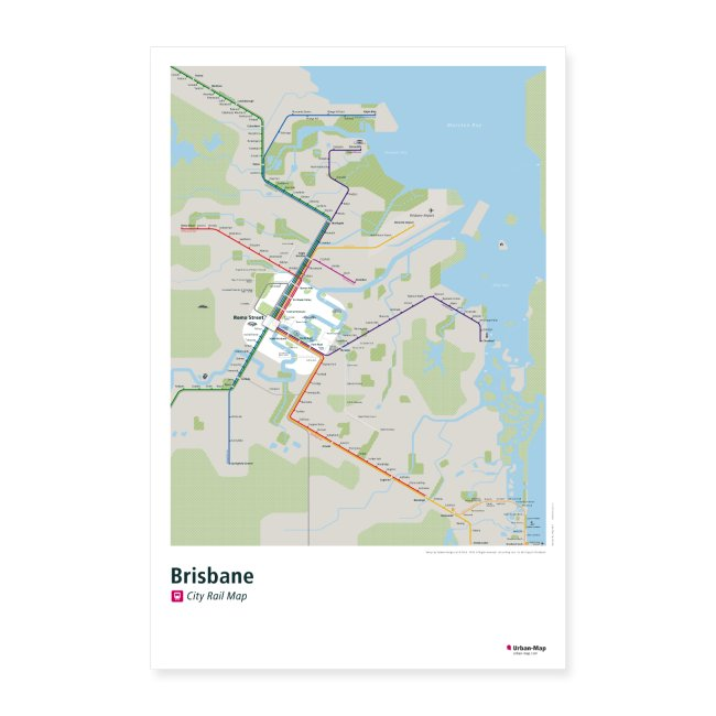 Brisbane Rail Map