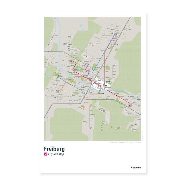 Freiburg Rail Map