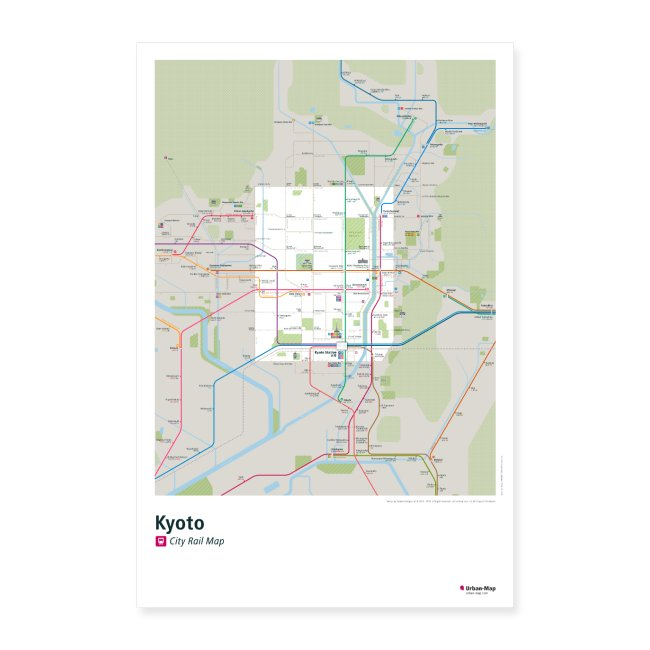 Kyoto Rail Map