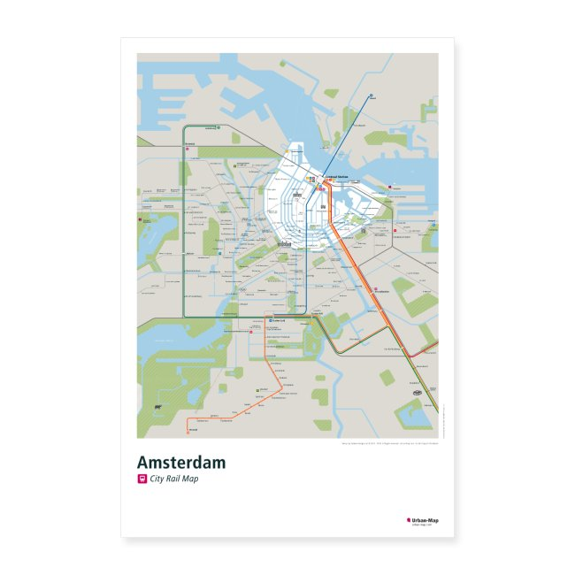 Amsterdam Rail Map