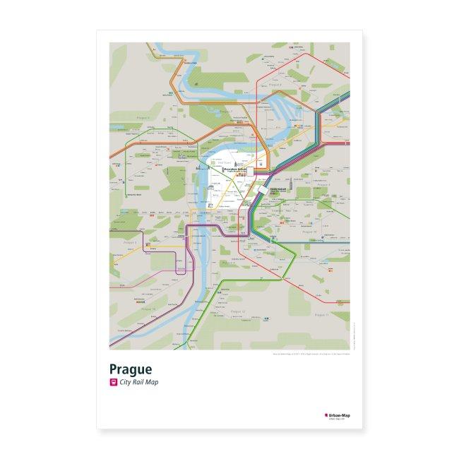 Prague Rail Map