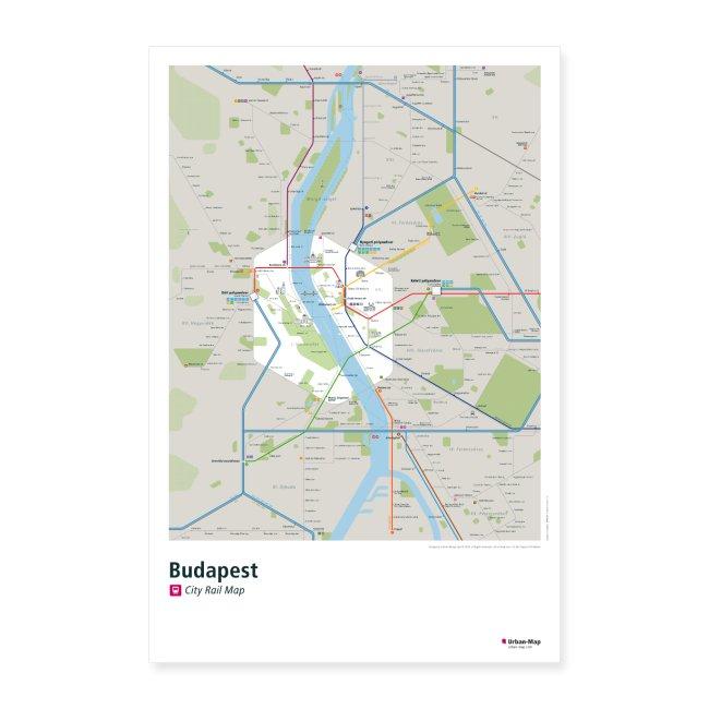 Budapest Rail Map
